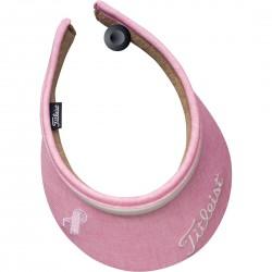 Gorra Titleist Visor DAMA Rosada Talla única Pink Ribbon Pink