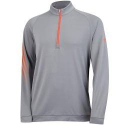 Saco Adidas buzo M Gris 3-stripes Cremallera 1/4 Talla Mediana Vista Grey-Hired