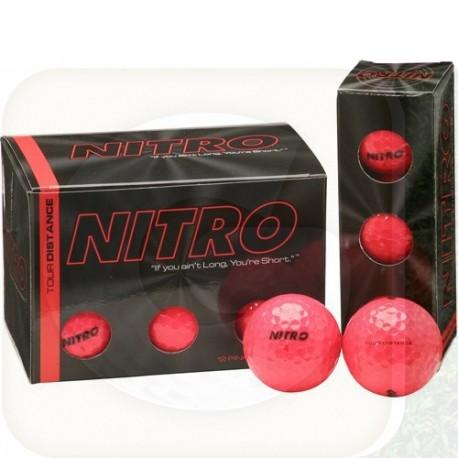 Bolas Nitro Tour Distance 3 Und. Color Rosada fuerte