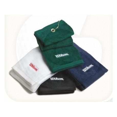 Toalla para talega de golf Wilson tri-fold con gancho y ojal Azul