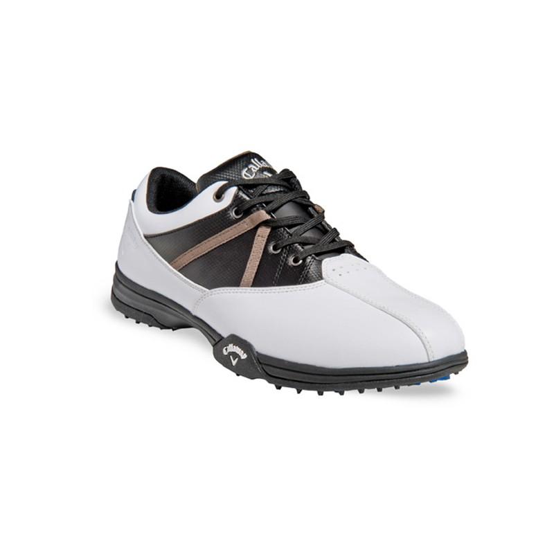 926f2a1bb6443 Zapatos de golf 7M Callaway Chev Comfort Blancos con Negro. Loading zoom