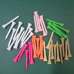 """Tees de colores en madera 54 mm Pequeño 2 1/8"""" paquete de 40 unidades"""