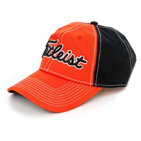 Gorra cachucha Titleist Naranja-Negro Performance Pique Orange/Black