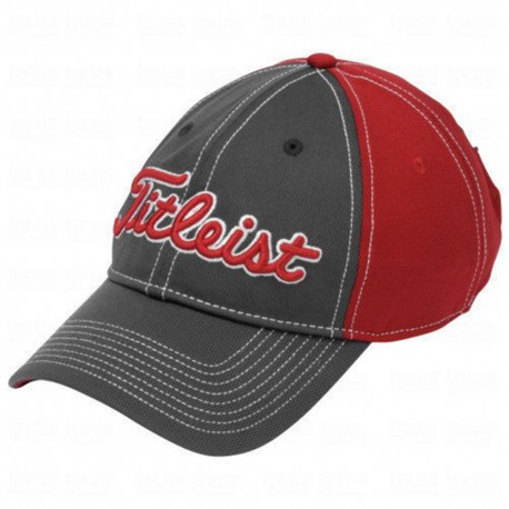 Gorra cachucha Titleist Carbón-Rojo Performance Pique Charcoal-Red