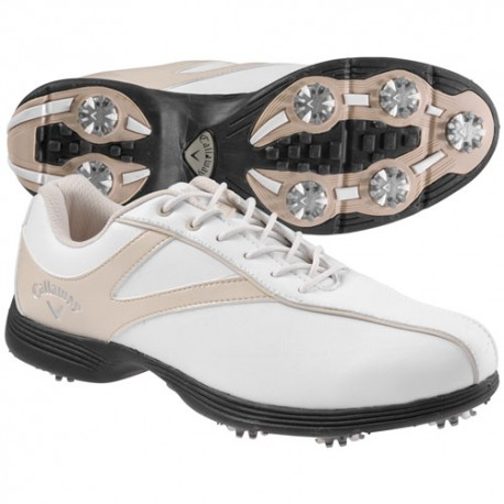 Zapatos Callaway DAMA 6.5M Novas Blanco y Habano