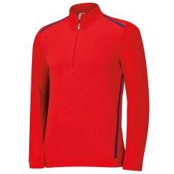 Saco Adidas buzo M Rojo Novelty Cremallera 1/2 Talla Mediana Red-Night Marine