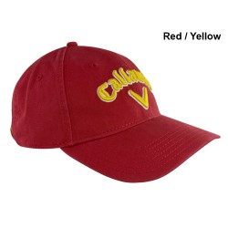 Gorra cachucha Callaway Roja-Amarilla Heritage Twill Ajustable Talla Única Asargada