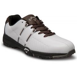 Zapatos Callaway ANCHOS Talla 13W Chev Comfort Blancos con Café Hombre Wide