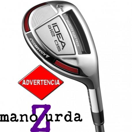 Híbrido Adams ZURDO 4H 22° Stiff Idea a12 OS Grafito