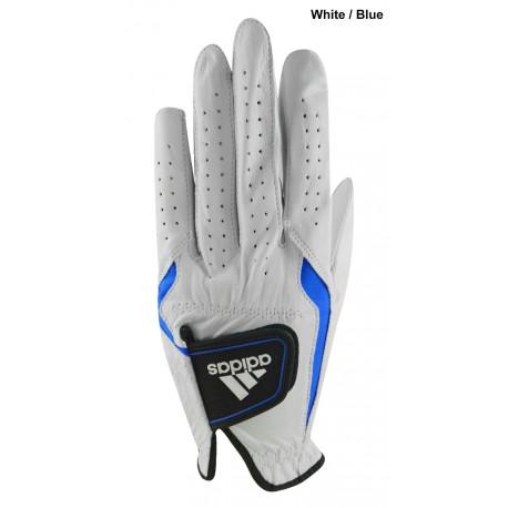 Guante Adidas ML Medio Grande Cuero Adistar Azul Blanco hombre Mano Izquierda Jugador derecho