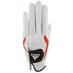 Guante Adidas XL Extra Grande Cuero Adistar Blanco y Rojo hombre Mano Izquierda Jugador derecho