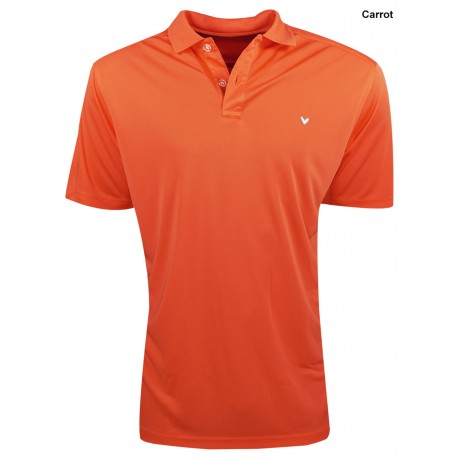 Camiseta Callaway XL Extra Grande Naranja Opti Dri Carrot polo hombre