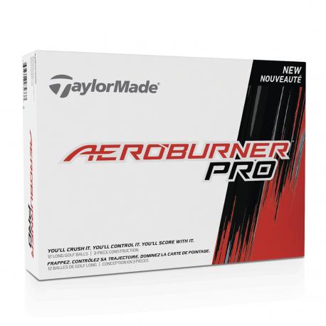 Bolas TaylorMade Aeroburner PRO Blancas Docena (12 Unidades)
