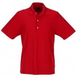 Camiseta Greg Norman L Grande Roja Cardinal Protek Micro Pique hombre Polo