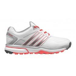 Zapatos Adidas Dama US 9.5M Rojo Plata Blanco Adipower Sport Boost