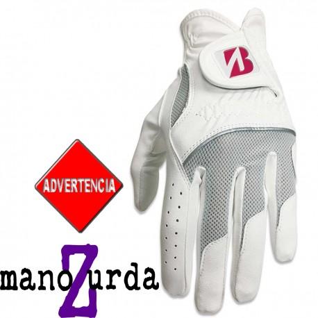 Guante Bridgestone DAMA ZURDA L Grande Multicolored Logo Cuero sintético y cabretta