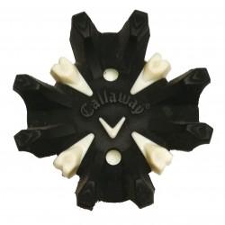 Spikes Callaway Blanco y Negro para zapatos de golf