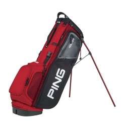 Talega Ping Hoofer Series Roja con Negro Carry Stand Cargar y Patitas