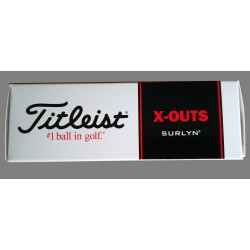 Bolas Titleist HVC Soft Feel Blancas X-Outs 3-Pack (3 Unidades)