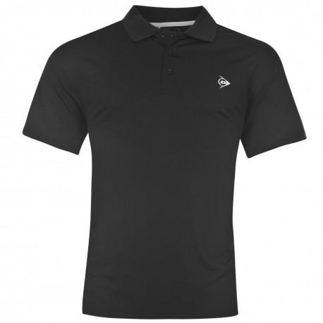 Camiseta Dunlop XXL Pequeña Negra plain liviana transpirable hombre Polo