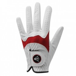 Guante Dunlop M mediano Tour Junior blanco y rojo para niños
