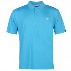 Camiseta Dunlop XL Extra Grande Azul Aqua plain liviana transpirable hombre Polo