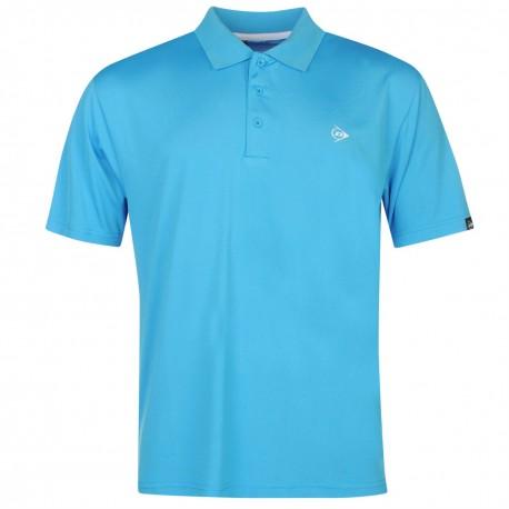 Camiseta Dunlop L Azul Aqua plain liviana transpirable hombre Polo