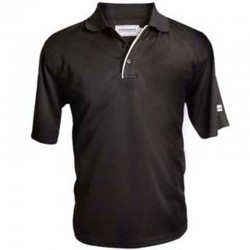 Camiseta de golf Polo Forgan MXT color sólido M Negra