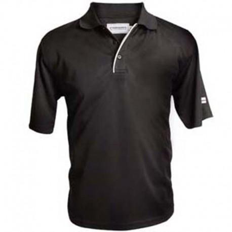 Camiseta de golf Polo Forgan MXT color sólido M Negra