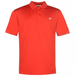 Camiseta de golf Dunlop XL Rojo Solar plain liviana transpirable hombre Polo