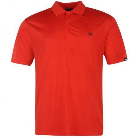 Camiseta Dunlop M Mediana Roja plain liviana transpirable hombre Polo