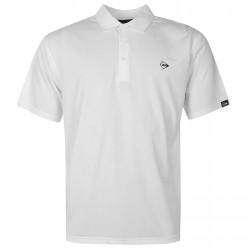 Camiseta Dunlop L Blanca plain liviana transpirable hombre Polo