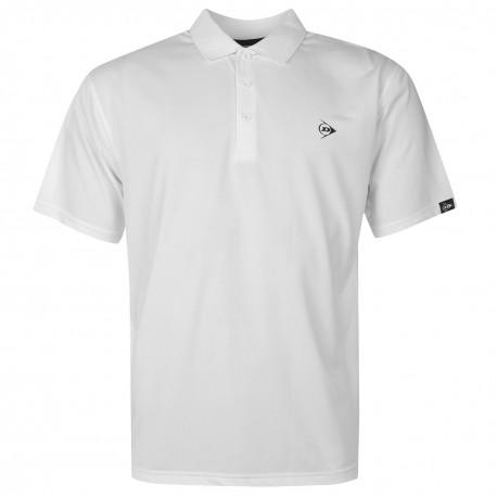 Camiseta Dunlop XXL Blanca plain liviana transpirable hombre Polo