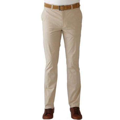 Pantalón Ashworth 33 Habano Khaki rayado stretch