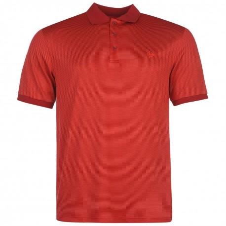 Camiseta Dunlop M Mediana Rayada Roja liviana transpirable hombre Polo