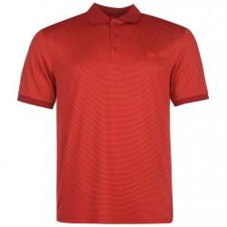 Camiseta Dunlop L Grande Rayada Roja liviana transpirable hombre Polo