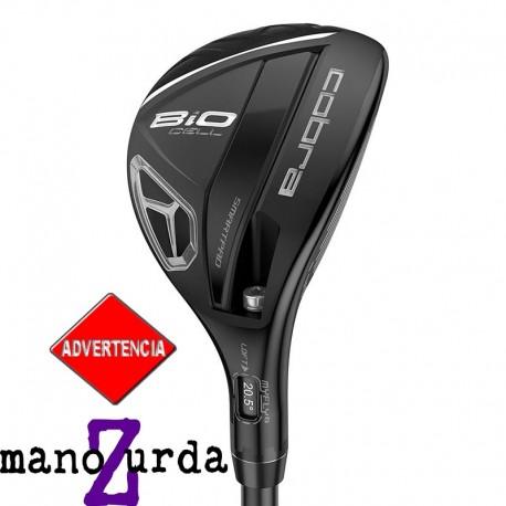 Híbrido de golf Cobra ZURDO 3H-4H Stiff Ajustable BiO Cell Negro