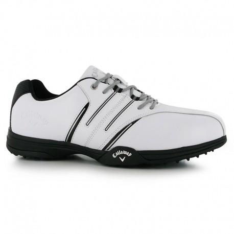 Zapatos Callaway Blanco/Negro/Gris Cuero Chev Multi II Hombre