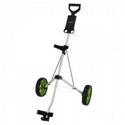 Carrito Caddymatic para talega de golf I-Trac 2 de acero Blanco y Verde