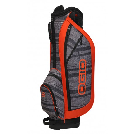 Talega de golf Ogio carrito naranja rayada Dime strilux orange
