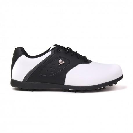 Zapatos de golf Dunlop 10M Blanco y Negro Classic Hombre