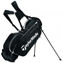 Talega de golf TaylorMade negra 5.0 de patitas y parar stand golfco palos de golf