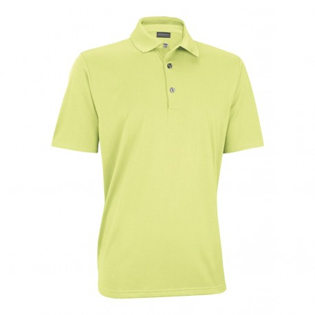 Camiseta de golf Polo Ashworth S Amarillo Claro Performance EZ-SOF Hombre Solid