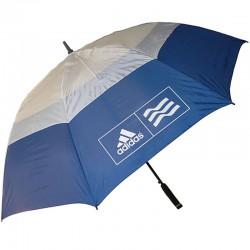 """Sombrilla de golf Adidas Ø 62"""" doble dosel azul y blanco 173cm golfco tienda de golf"""