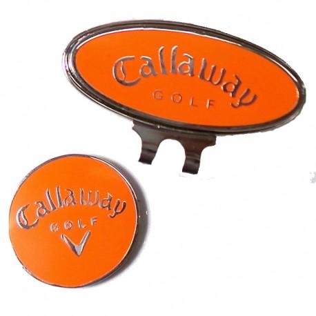 Clip marcador callaway naranja para gorra de golf tienda de golf golfco