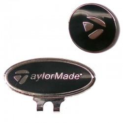 Clip marcador taylormade negro para gorra de golf