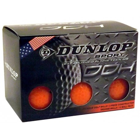 Bolas de golf Dunlop Naranjas Docena DDH 12 Unidades