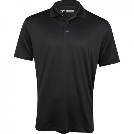 Camiseta de golf Callaway L Negra Caviar Grande Opti Dri Stretch polo golfco