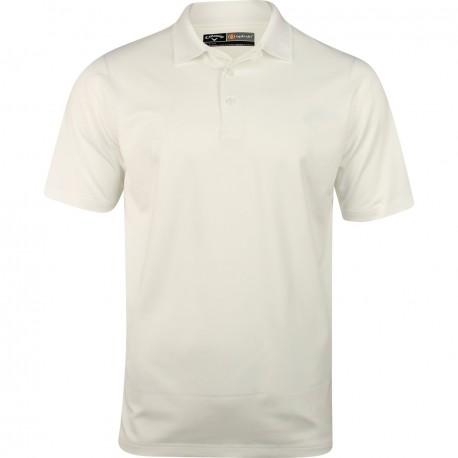 Camiseta de golf Callaway L Blanca Bright Opti Dri polo tienda de golf golfco