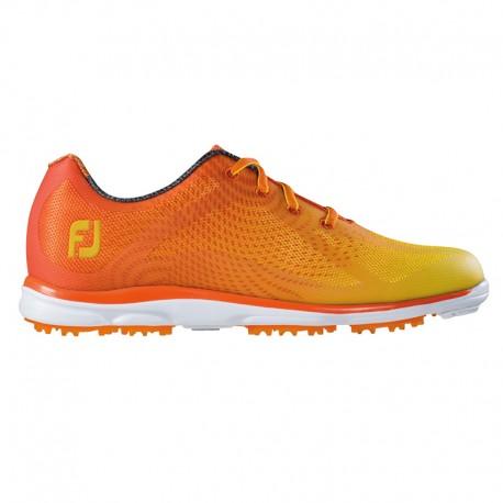 Zapatos de golf Footjoy DAMA 7M emPower naranja y amarillo golfco tienda de golf